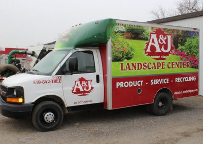 A & J Landscape Center Box Truck Graphics Wrap