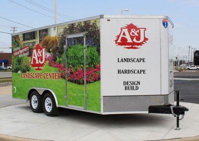 A & J Landscape Center Trailer Graphics Wrap