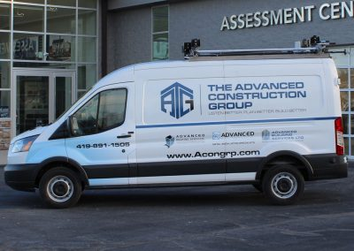 The Advanced Construction Group Van Graphics