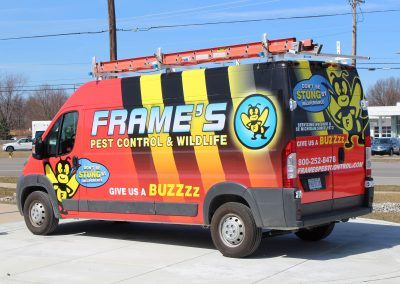 Frames Pest Control Van Wrap
