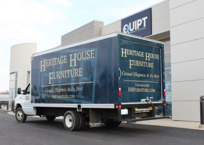 Heritage house Furniture Box Truck Graphics Wrap