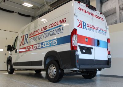 KR Heating and Cooling Van Wrap
