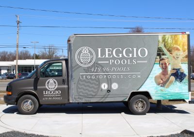 Leggio Pools Box Truck Graphics Wrap