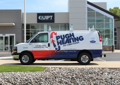 Pugh Heating Air Conditioning Van Wrap
