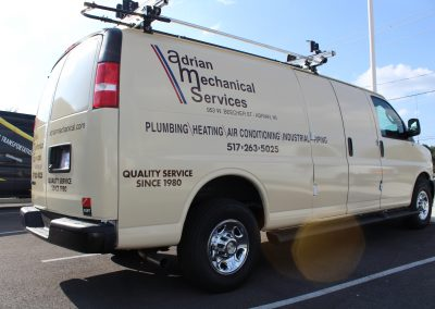 Adrian Mechanical Services Graphics for Vans