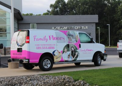 Family Floors Van Graphics Wrap