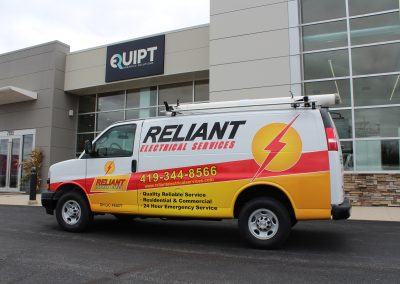 Reliant Van Graphics Wrap