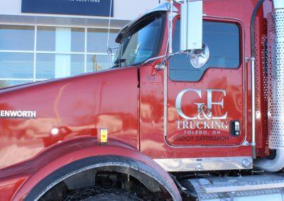 Semi Truck Custom Signage