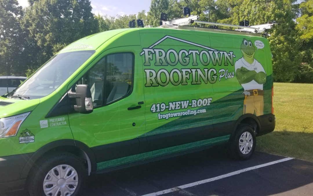 Frogtown Roofing Van Graphics Wrap Toledo, Ohio